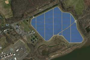 PNL's Layouts for PV Solar Power Installations on Dow's RCRA Containment Cell at Bristol, PA Facility